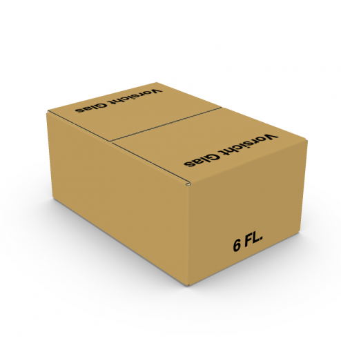 Einsteckklappenkarton 6 x 0,75l braun