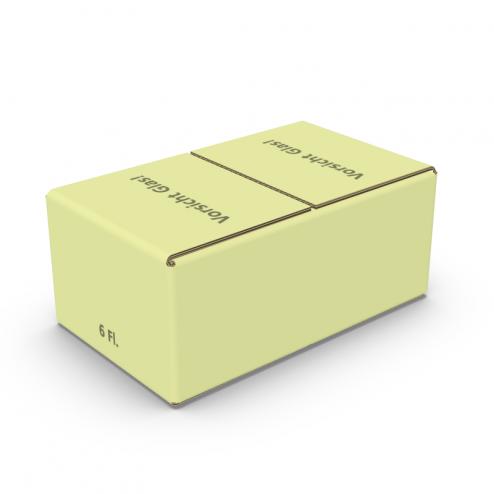 Einsteckklappenkarton 6 x 0,375l / 0,5l