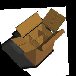 Faltkarton stehend 6 x 0,75l Automatikgefach 330 mm hoch