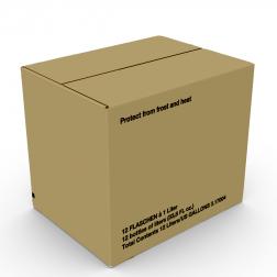 Exportkarton 12 x 1,0l einwellig braun