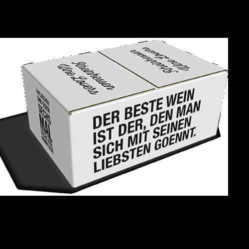 Einsteckklappenkarton 6 x 0,75l Individualisierbar