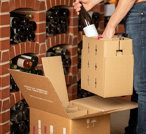 Tragekorb im Weinkeller